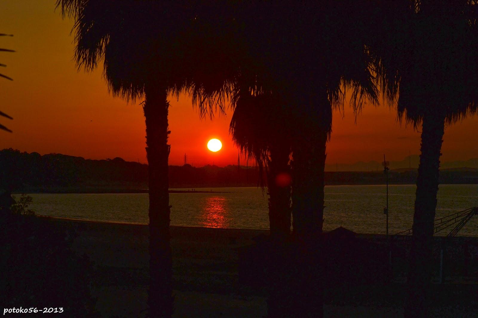 Vista del amanecer de Rota