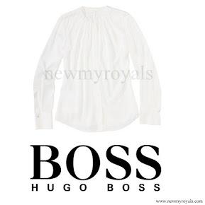 Queen Letizia Style HUGO BOSS Seiden Bluse