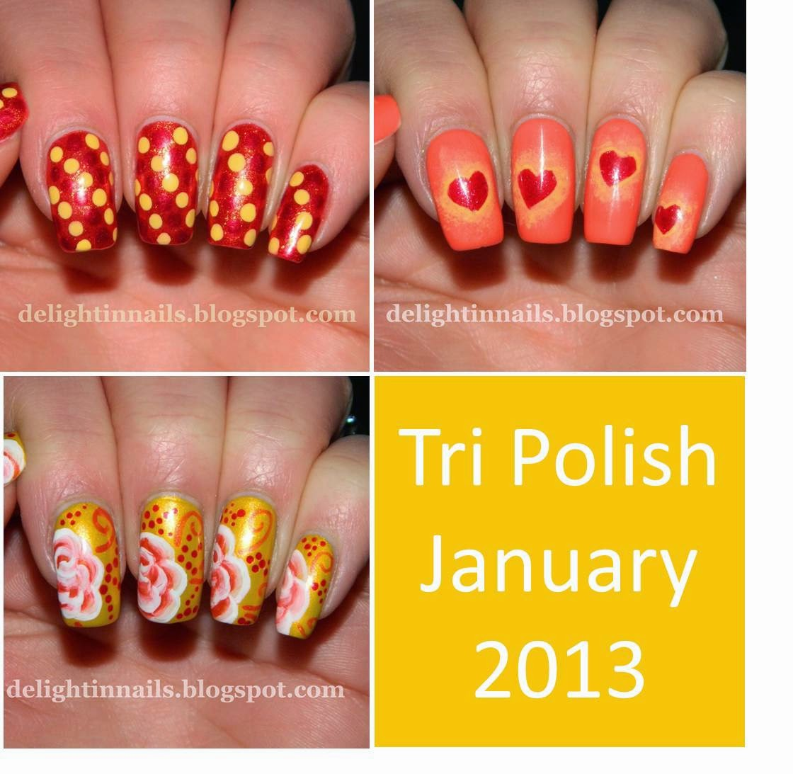 Tri Polish Red Orange Yellow