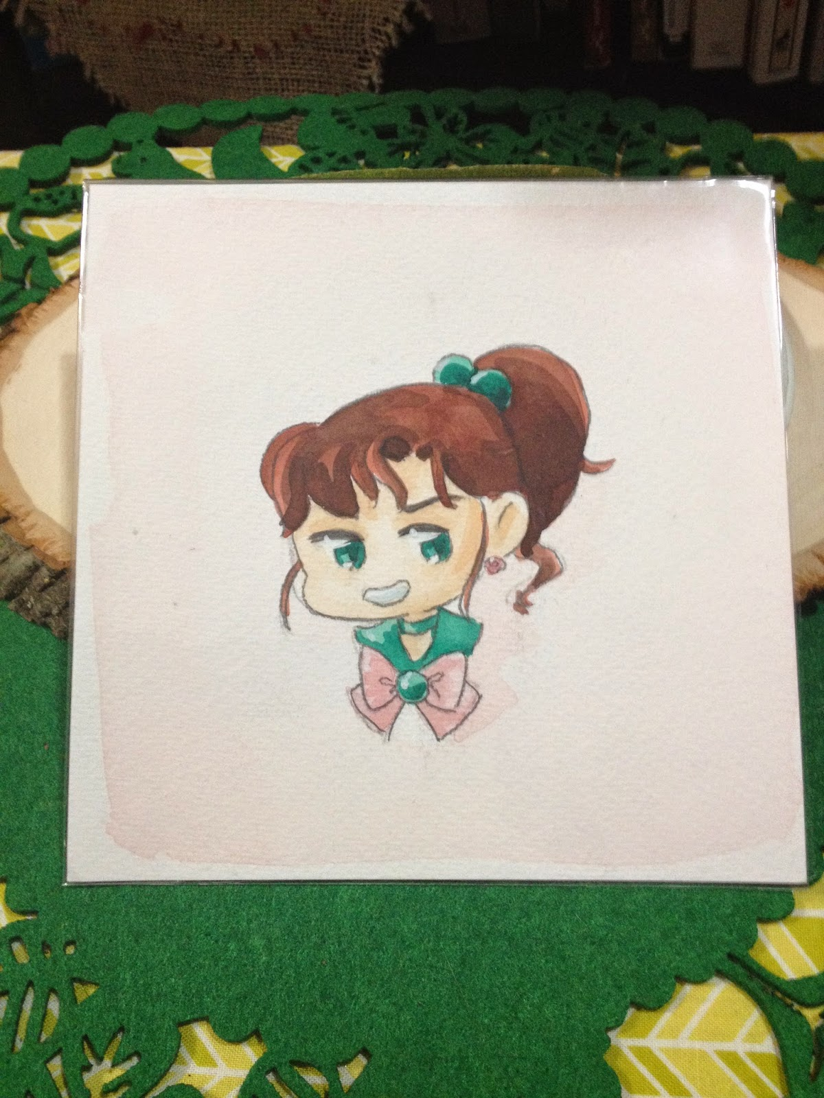 Sailor Jupiter watercolor headshot