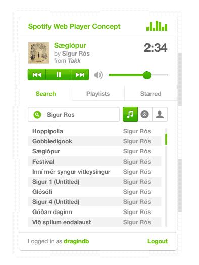Spotify Web Player UI