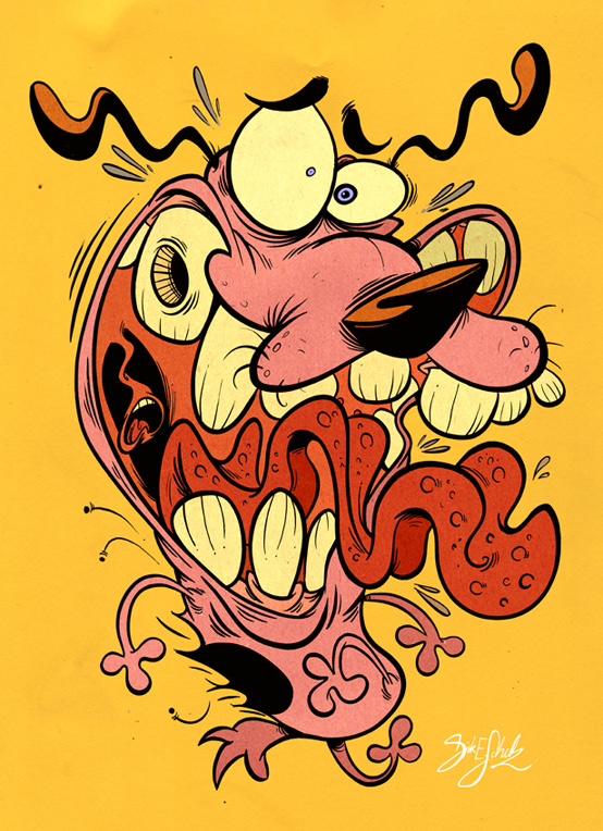 8 Disturbing Cartoon Characters : American top cartoons courage the cowardly dog