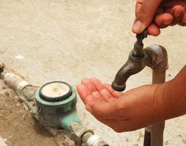 Resultado de imagem para água suja na torneira.caema