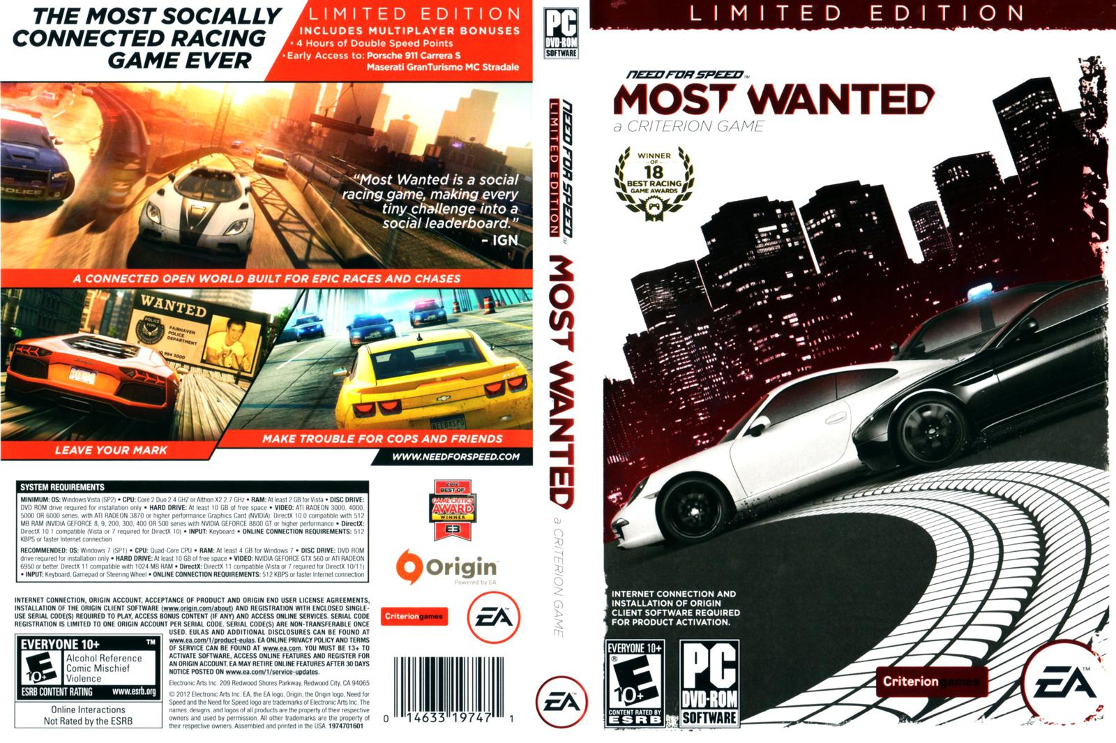 need for speed most wanted: limited edition (2012) PCH