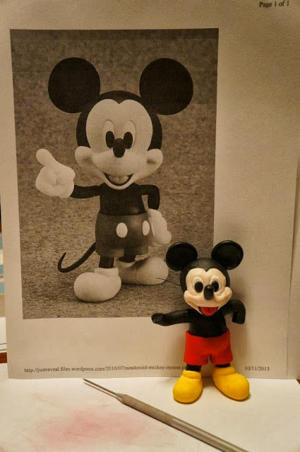 Attempt at Fimo Mickey Mouse sculpture / figurine.