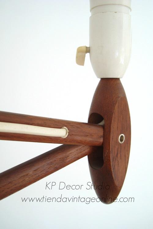 Comprar aplique de madera danes extensible tipo tijera. muebles y lámparas dinamarca en valencia