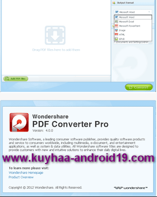 Features of Wondershare PDF Converter PRo: