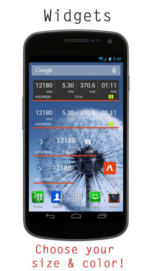 Accupedo-Pro Pedometer Android App ,