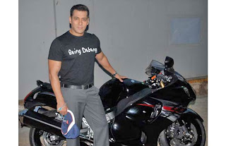SALMAN KHAN ADDS HAYABUSA TO HIS COLLECTION OF SUPERBIKES