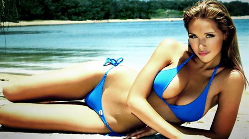 blue bikini desktop