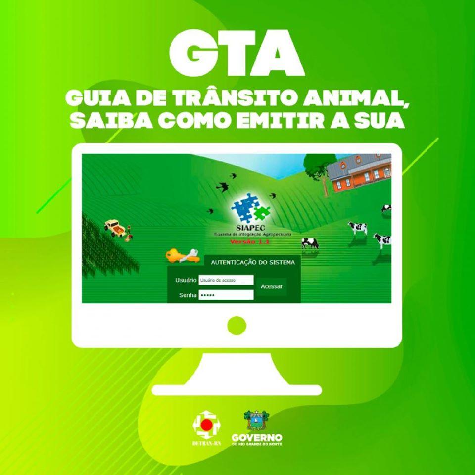 Emissão da guia GTA
