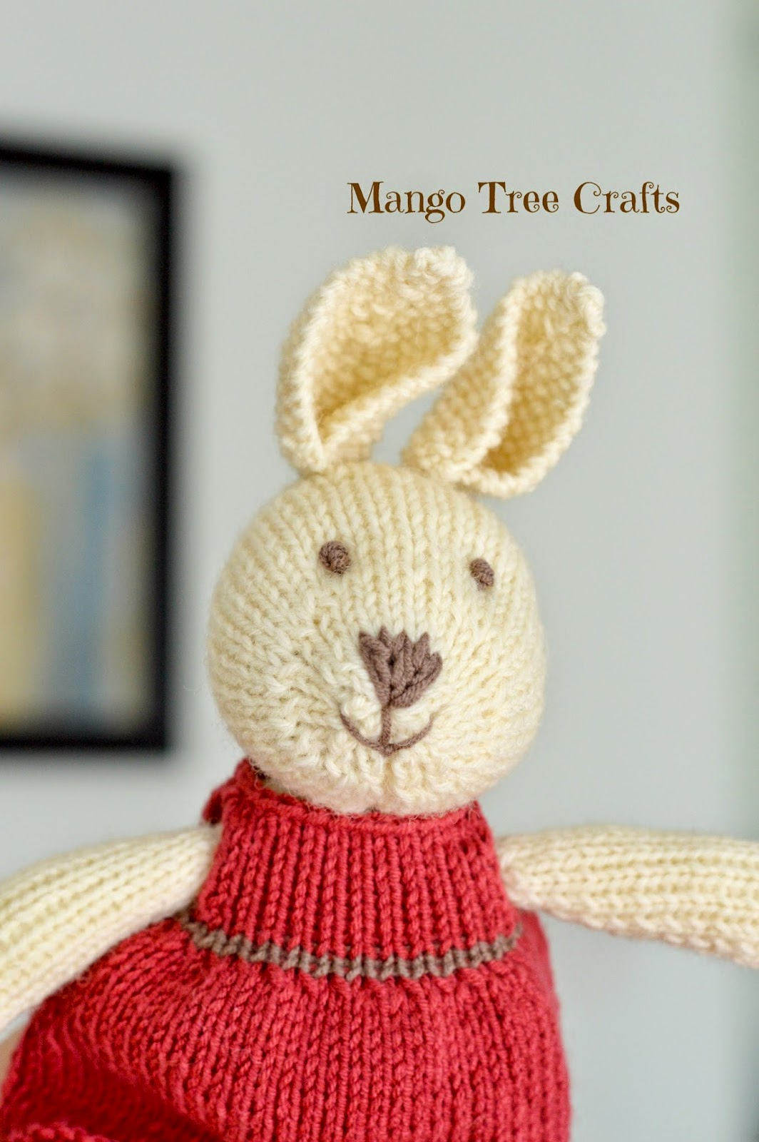 Mango tree crafts knitted bunny girl knitted bunny pattern bankloansurffo Choice Image