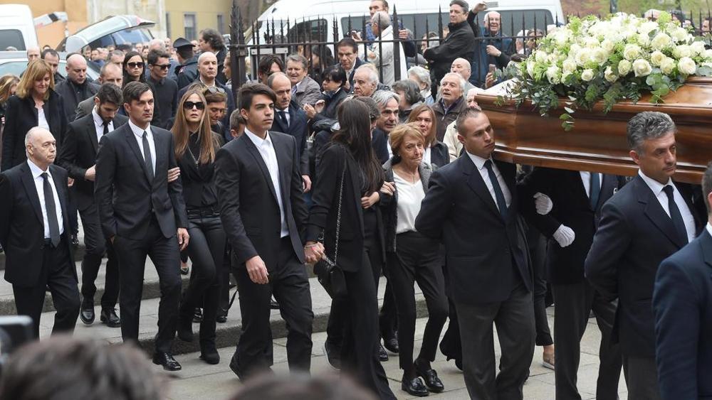 05.04.2016 - L'ultimo saluto a Cesare Maldini, tutto il calcio raccolto a Milano