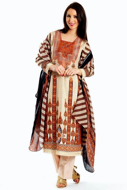 Traditional Digital Printed Kameez with Trouser