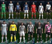 Kit do Inter de Milão 2012/13 e Kit do Juventus 2012/13 Para PES 2012 .