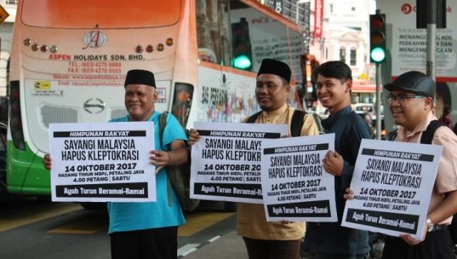 SELAMATKAN MALAYSIA , HAPUSKAN KLEPTOKRASI DAN RASIS PASNO !!  HIMPUNAN PADA 14 OKT 2017 !!