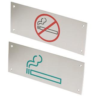 Semn pentru Usa Fumatori, Nefumatori, Fumatul Oprit, Semne din Otel Inoxidabil pentru Usa, Preturi, Modele
