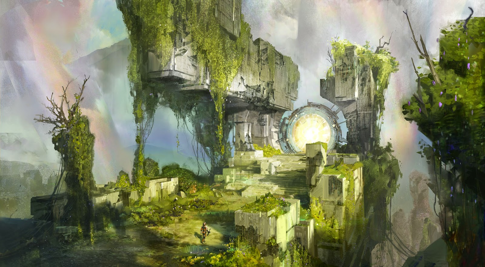 Warp Gate concept art destiny game