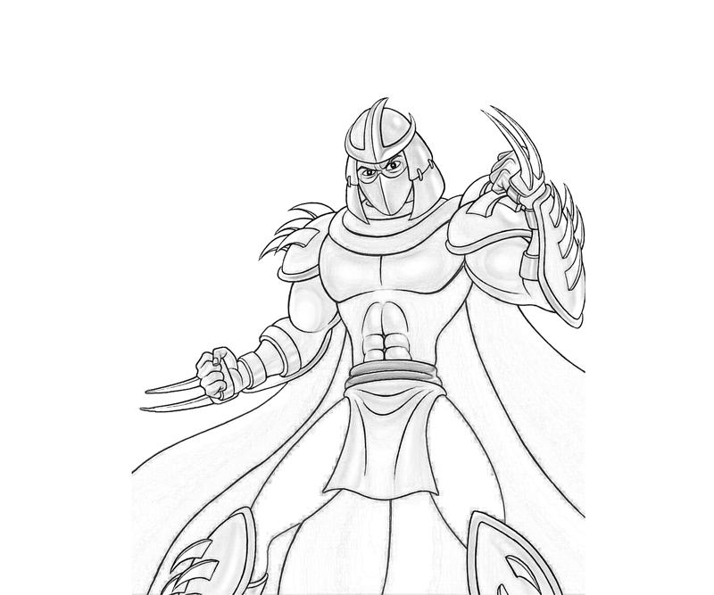 tmnt coloring pages shredder machine - photo#24