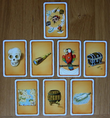 Alles Kanone! - A Topic card with the 7 matching Pirate cards