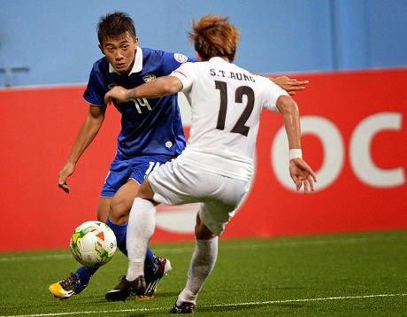 Piala AFF : Thailand 2-0 Myanmar