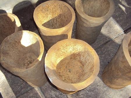 10 ideas para hacer macetas los troncos - Como fabricar maceteros de madera ...