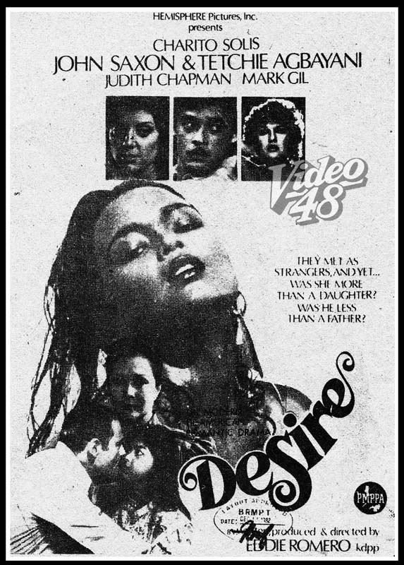 "Left- ""Hubad na Gubat"" (1982)- Stars Phillip Salvador and Tetchie"