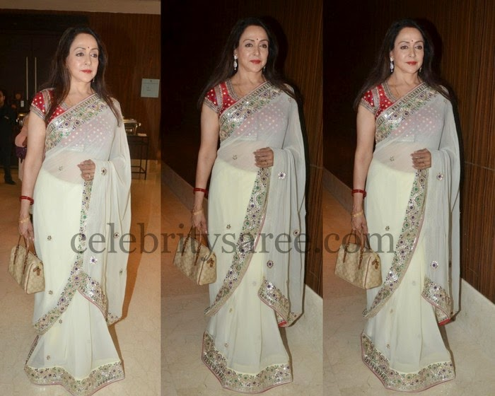 Hema Malini Latest Georgette Saree