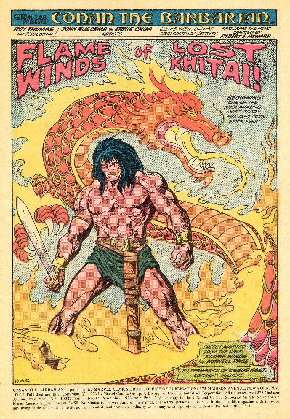 Conan the Barbarian (1970) Issue #32 #44 - English 2