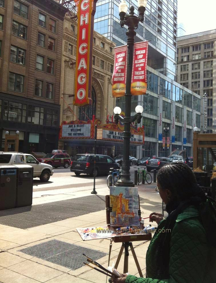 Sandra Nunes - Pintura ao ar Livre em Chicago