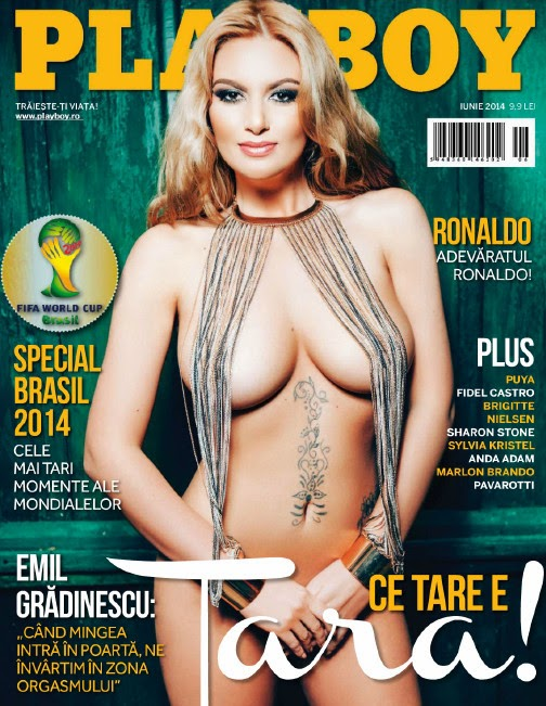 Sexy Romanian singer Tara Holtea nude in Playboy pic 1