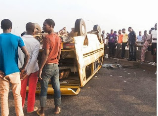 Photos: Ghastly accident in Lagos this morning