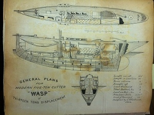 General plans for the cutter Wasp