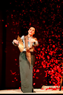 Anne Sophie Duprels as Madama Butterfly, Opera Holland Park 2013, picture Fritz Curzon