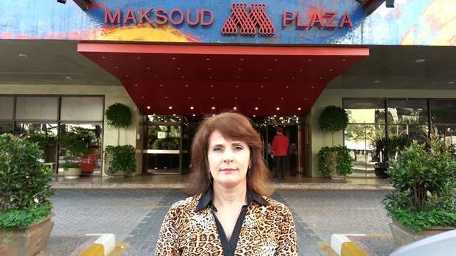 Sonia Hecher no Hotel Maksoud Plaza
