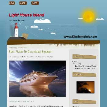 Light House Island Blogger Template. template for travel blog