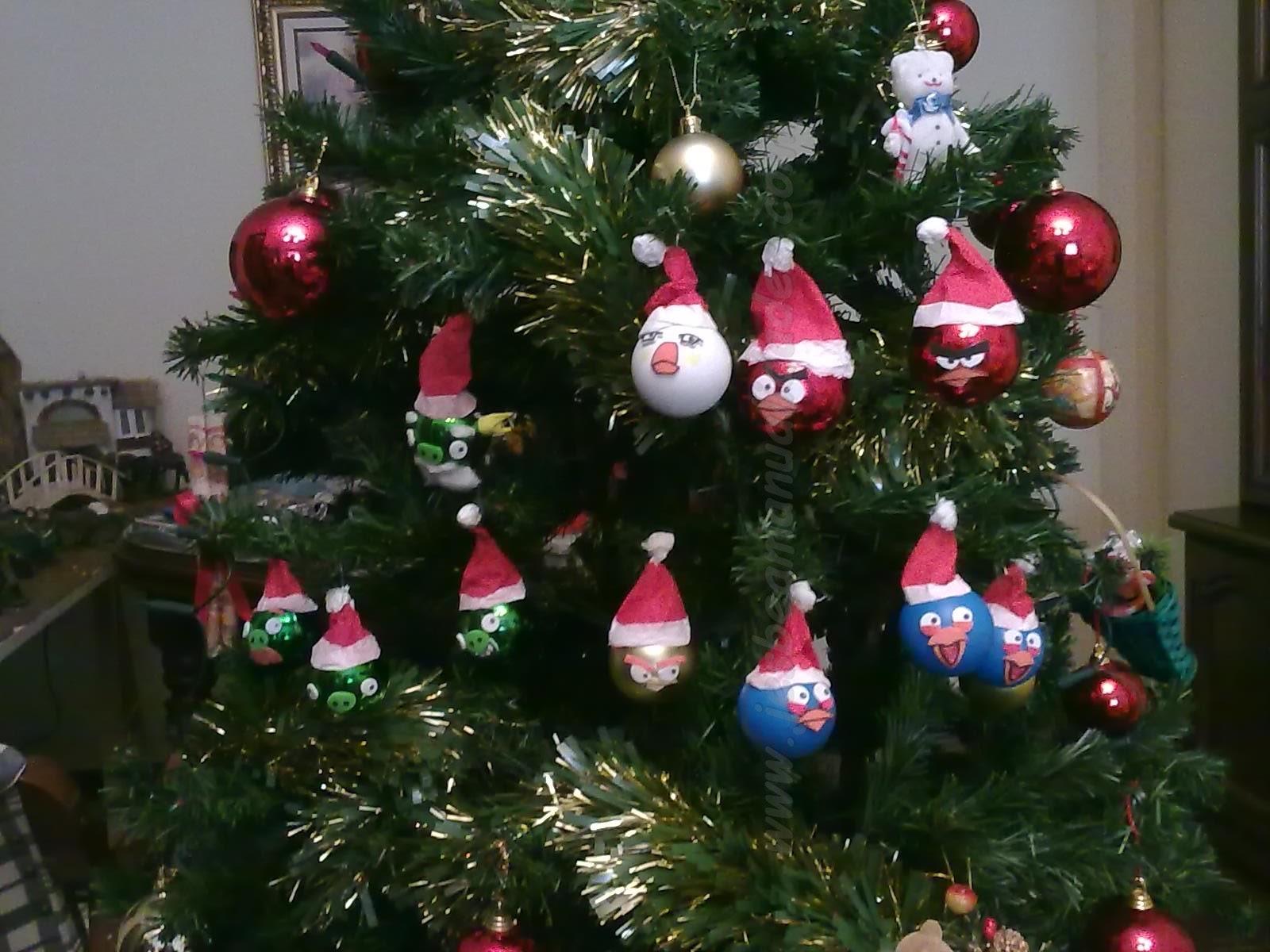 Jesbea manualidades angry birds adornos para rbol de - Adornos para arbol navidad ...
