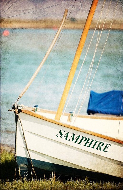 The small boat Samphire, moored in Wells-Next-The-Sea