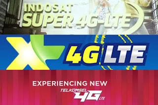 Daftar Harga Paket Terbaru 4G LTE Indosat Ooredoo Telkomsel XL Smartfren