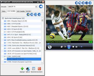 Sopcast video peer to peer software