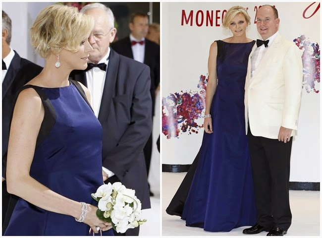 2014 Golden Horse Awards:Huiwen Zhang wore the same Dior gown with Princess Charlene of Monaco