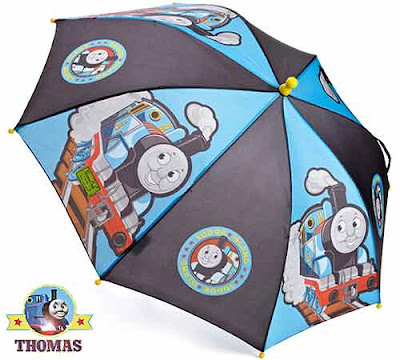 April shower wet gear waterproof cool Thomas tank Sunshade Brolly gift idea for young boys birthday