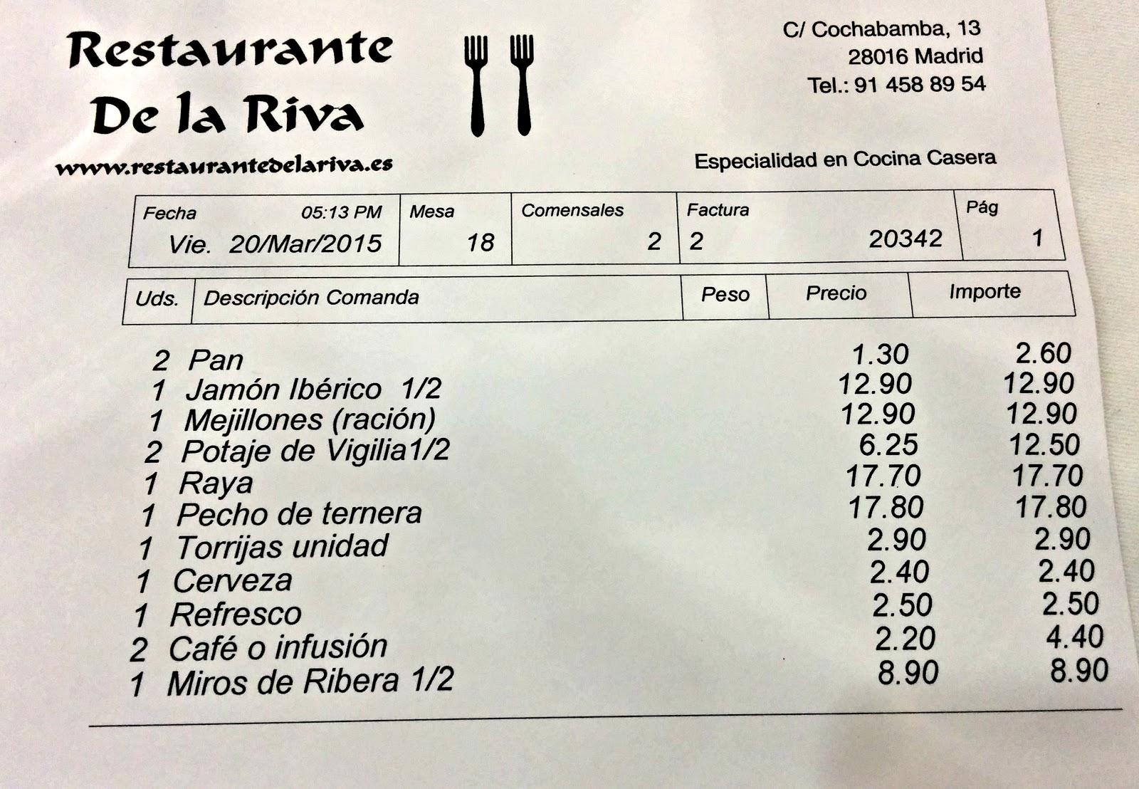 Restaurante De la Riva