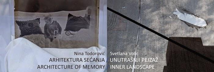 """Otvaranje izložbi """"Arhitektura sećanja"""" Nine Todorović i """"Unutrašnji pejzaž"""" Svetlane Volic"""