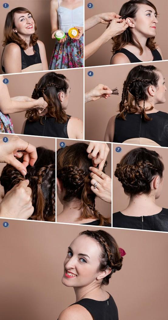 Tutorial cepol kepang rambut pendek