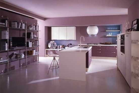 Violet Kitchen Interior Design Inspiration