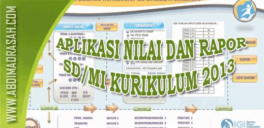 Aplikasi Daftar Nilai SD/MI K13