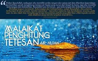 Malaikat Penghitung Tetesan Air Hujan