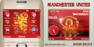 manchester united c3 by hb Download Tema Nokia C3 Gratis