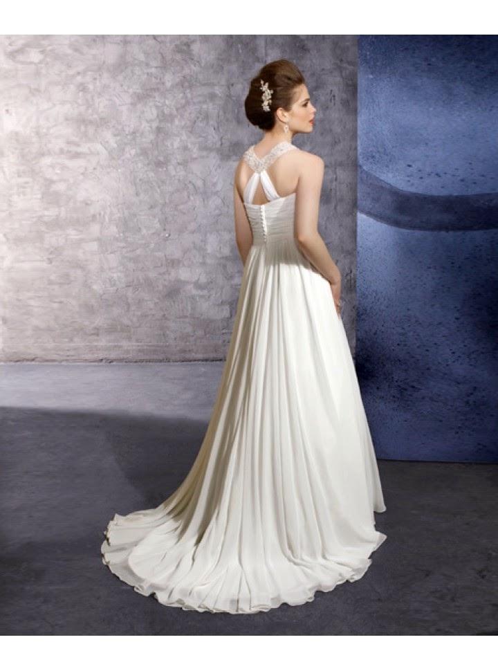 Vestido de Novia Columna, Cuello Halter Brillante y Broche en el Pecho